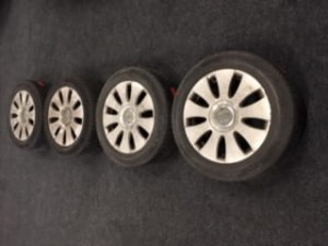 Winterbanden set Audi A4 205/556R16 4.0/6.0/4.5/6.0mm 41RRJR